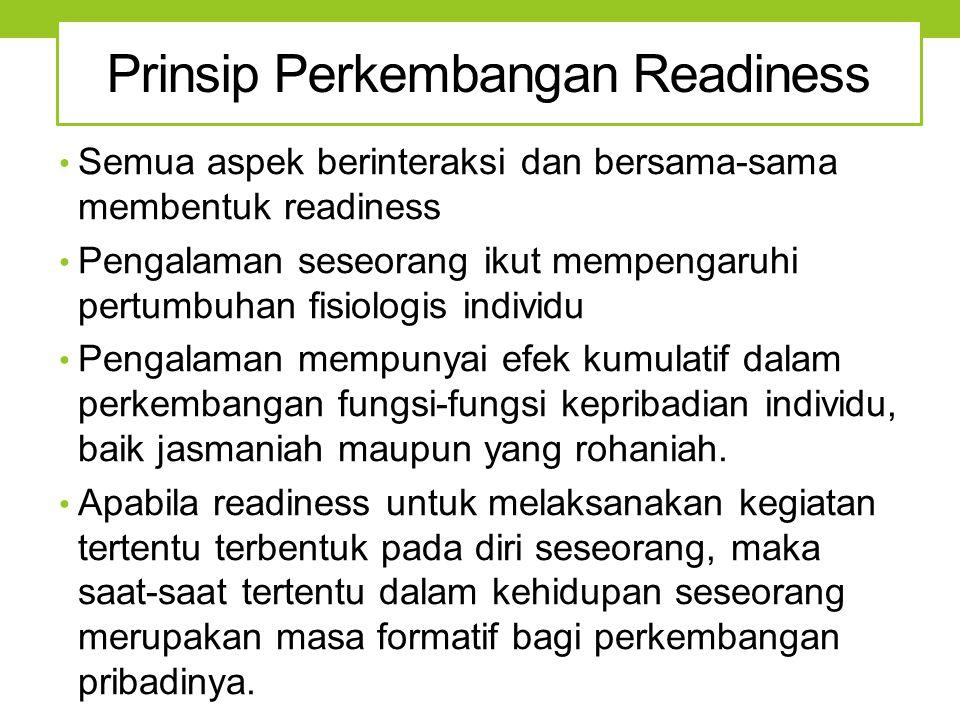 Prinsip Perkembangan Readiness