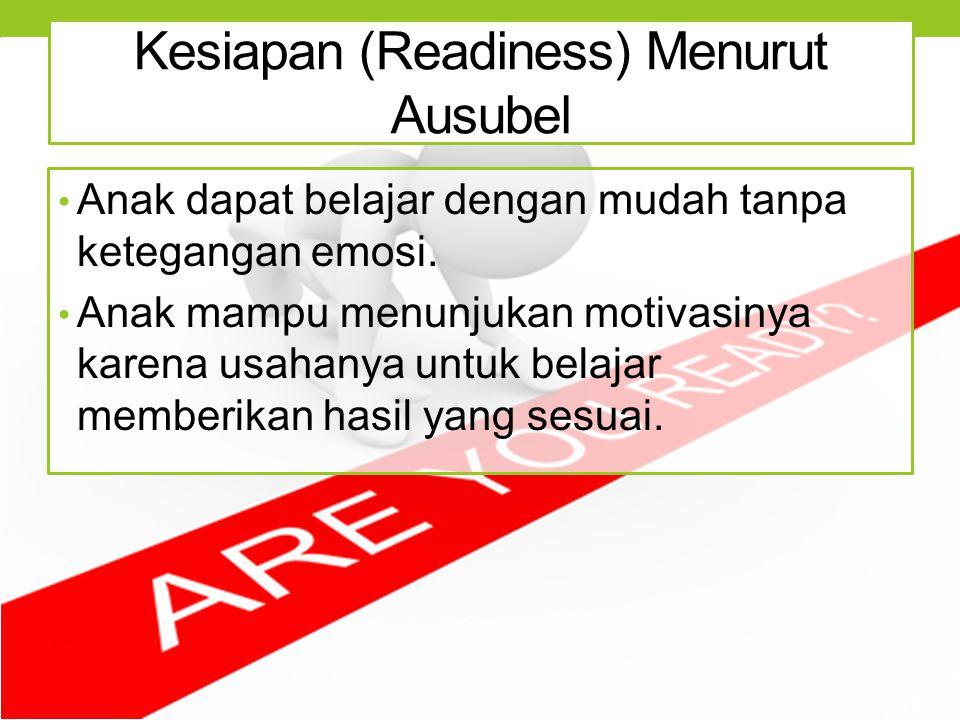 Kesiapan (Readiness) Menurut Ausubel