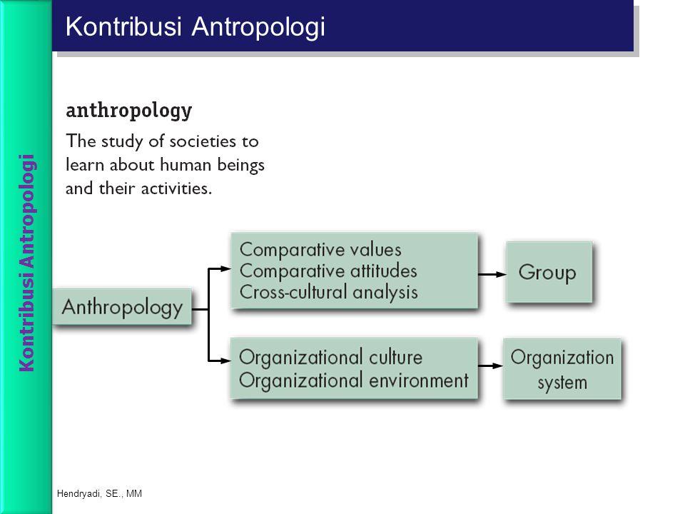 Kontribusi Antropologi