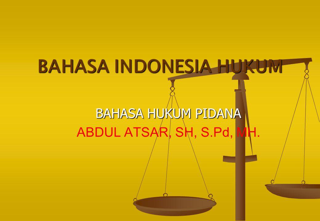 BAHASA INDONESIA HUKUM