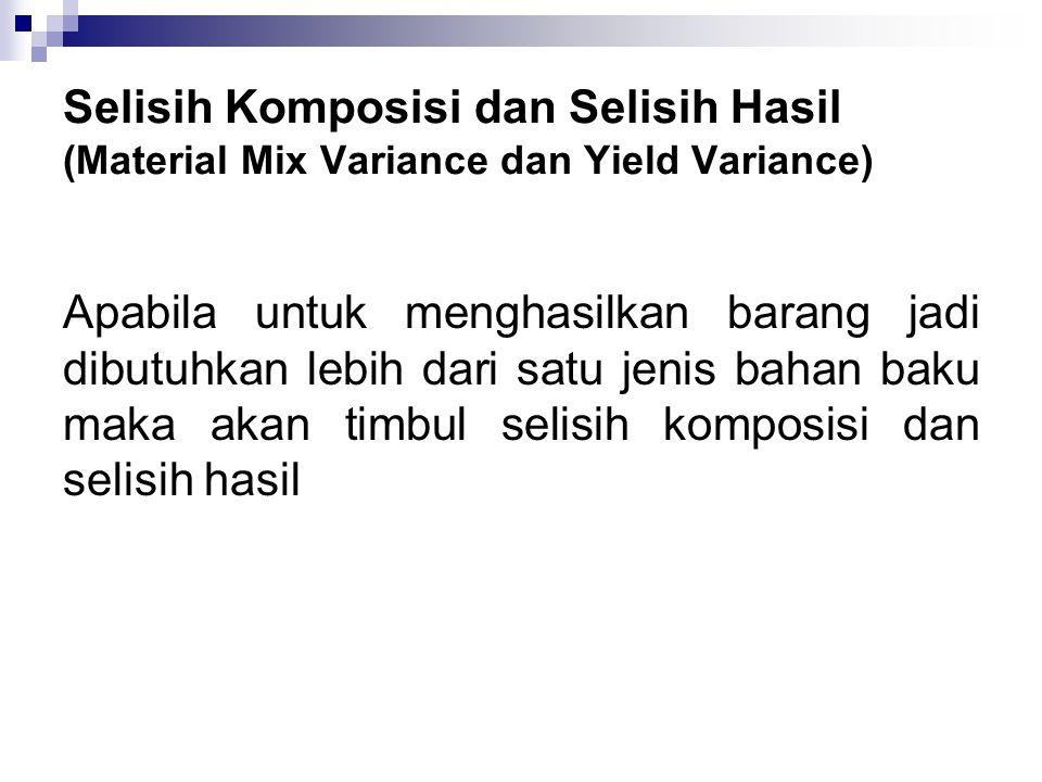 Selisih Komposisi dan Selisih Hasil (Material Mix Variance dan Yield Variance)
