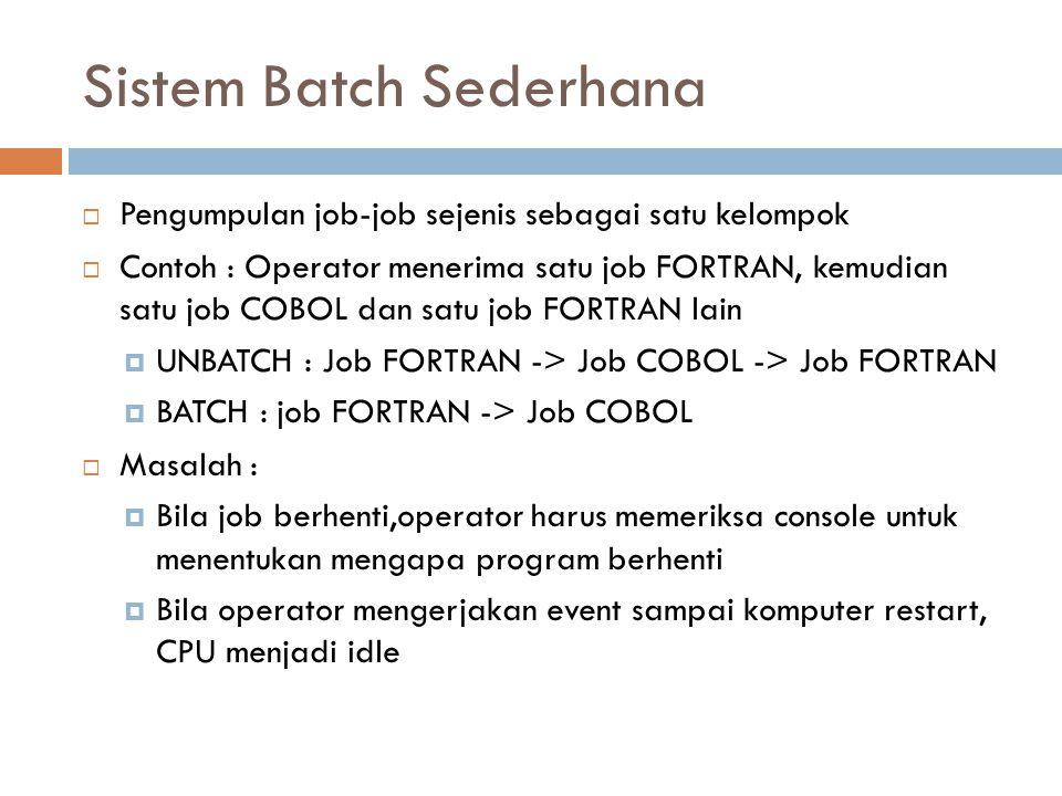 Sistem Batch Sederhana