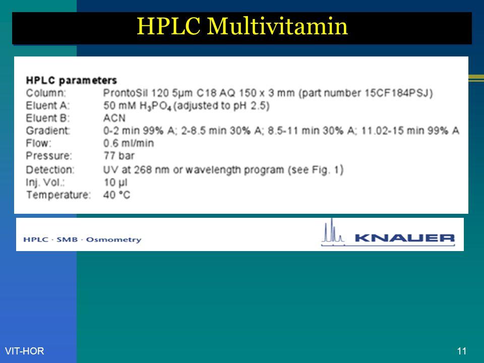 HPLC Multivitamin VIT-HOR