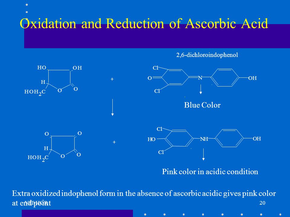 Oxidation and Reduction of Ascorbic Acid