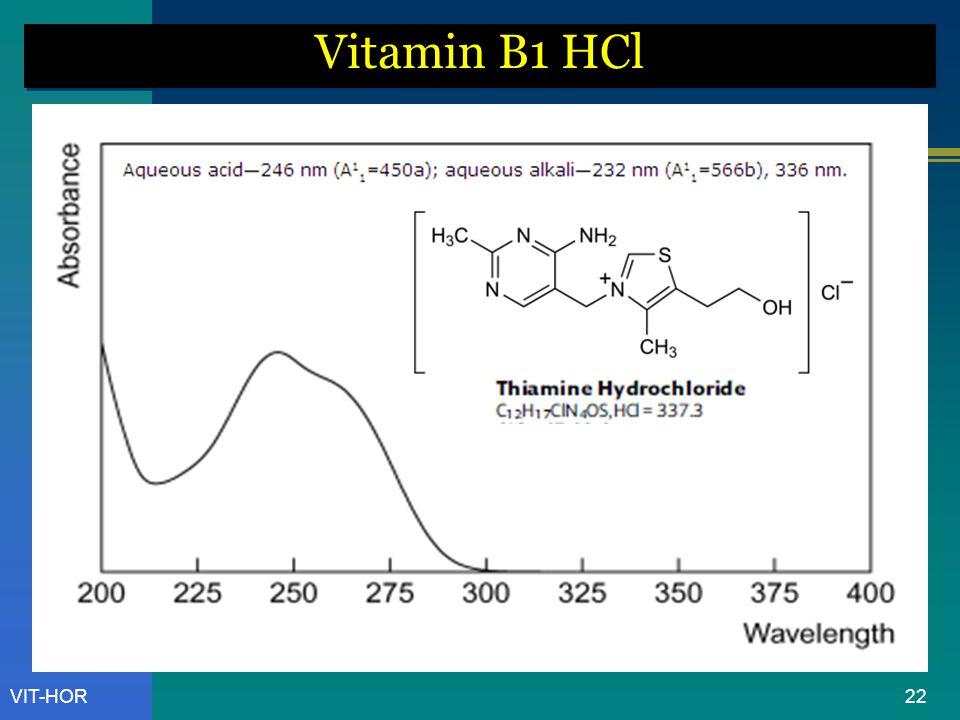 Vitamin B1 HCl VIT-HOR