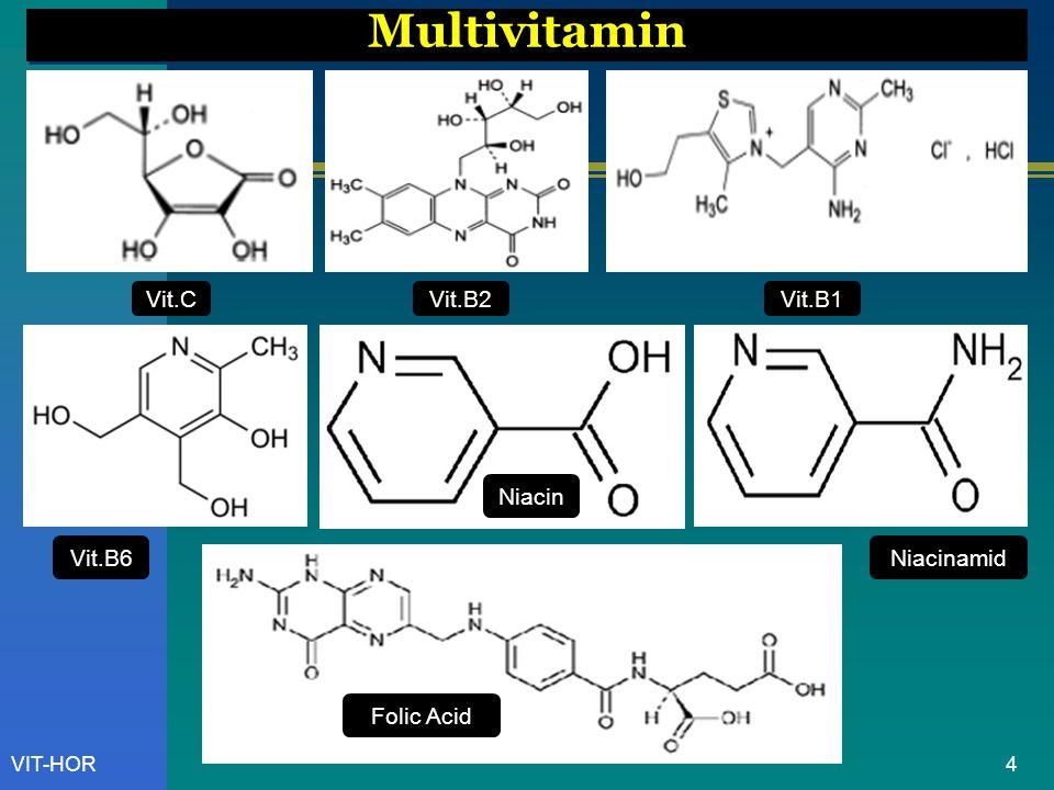 Multivitamin Vit.C Vit.B2 Vit.B1 Niacin Vit.B6 Niacinamid Folic Acid