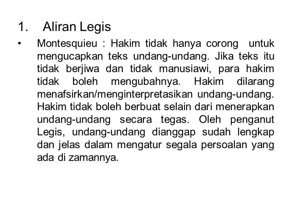 1. Aliran Legis