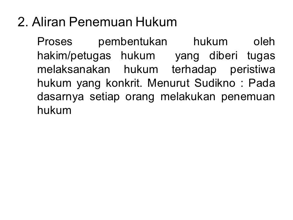 2. Aliran Penemuan Hukum