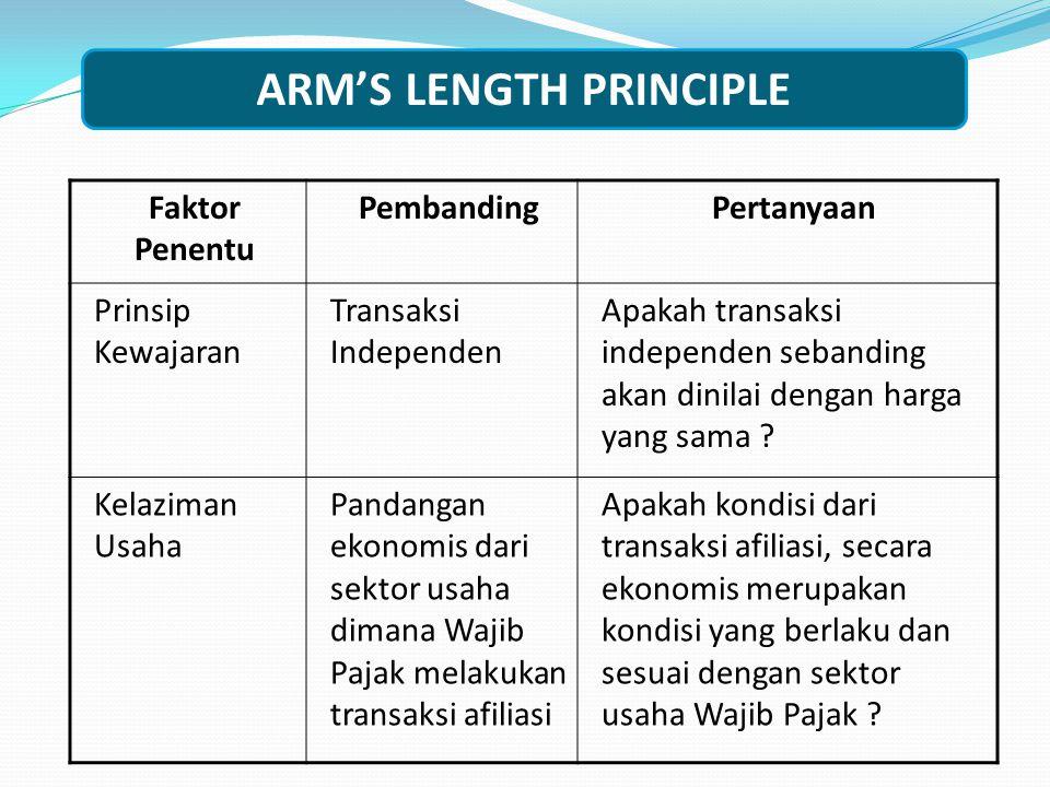 ARM'S LENGTH PRINCIPLE
