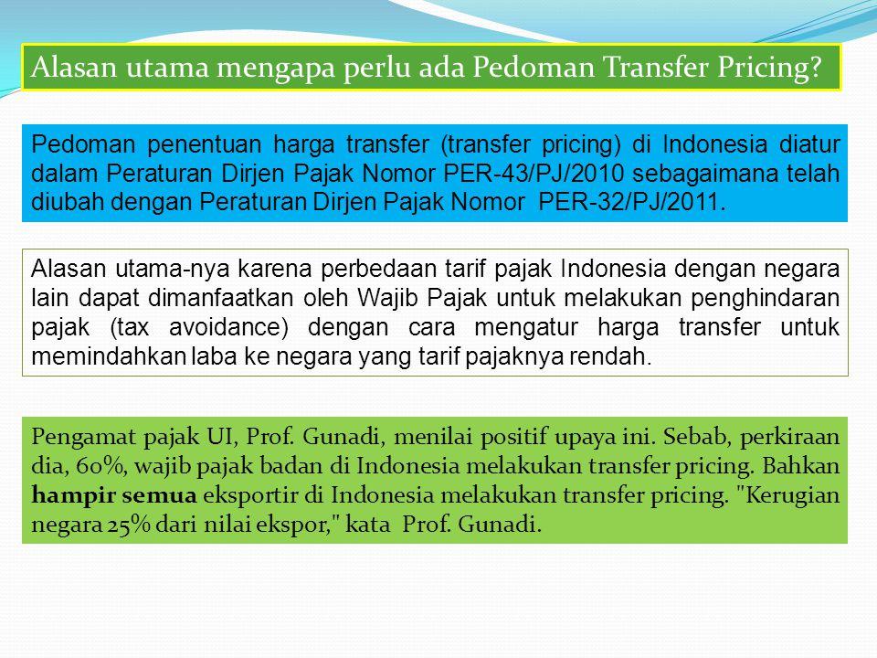Alasan utama mengapa perlu ada Pedoman Transfer Pricing
