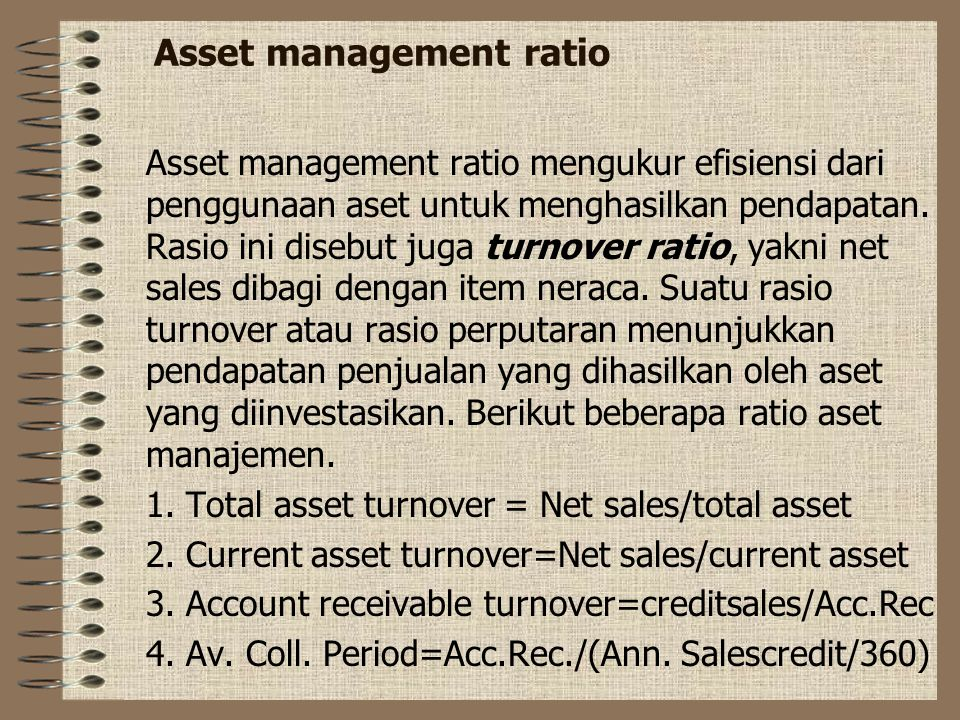 Asset management ratio
