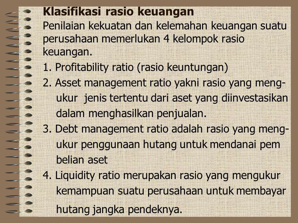 Klasifikasi rasio keuangan