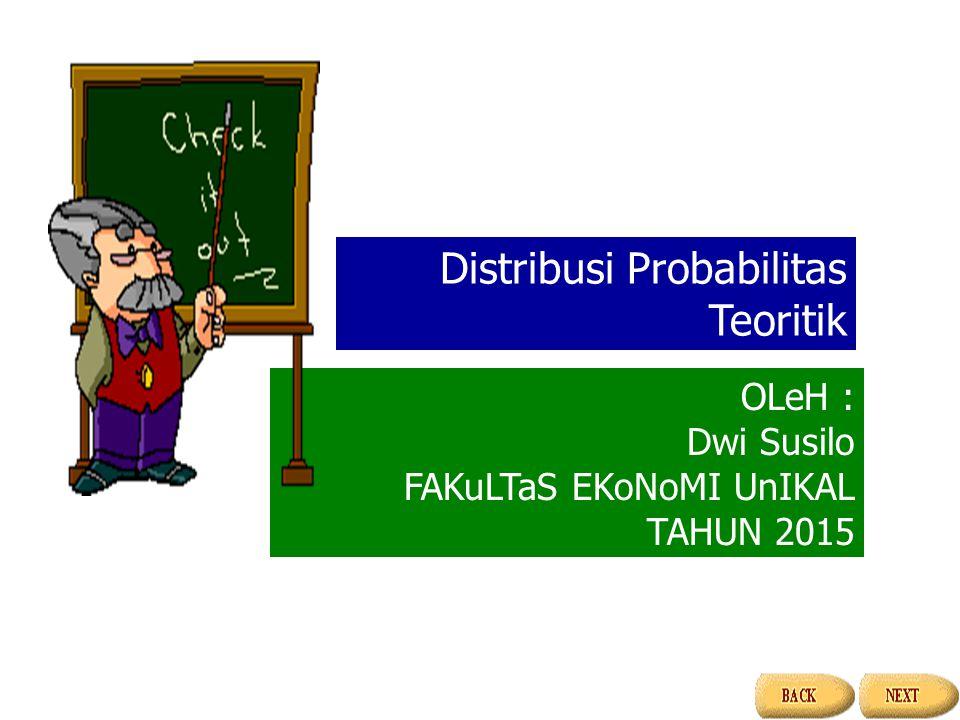 Distribusi Probabilitas Teoritik