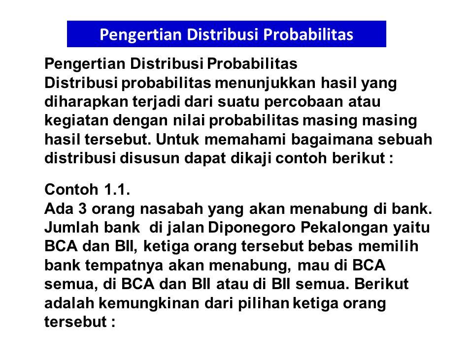 Pengertian Distribusi Probabilitas