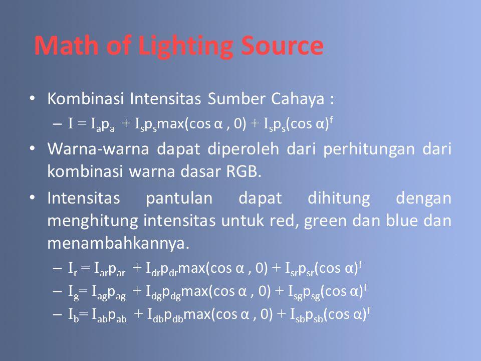 Math of Lighting Source