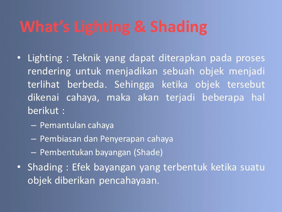 What's Lighting & Shading