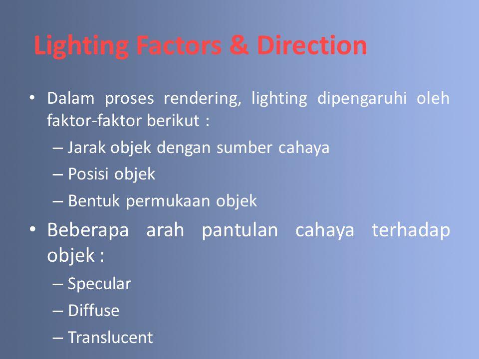 Lighting Factors & Direction