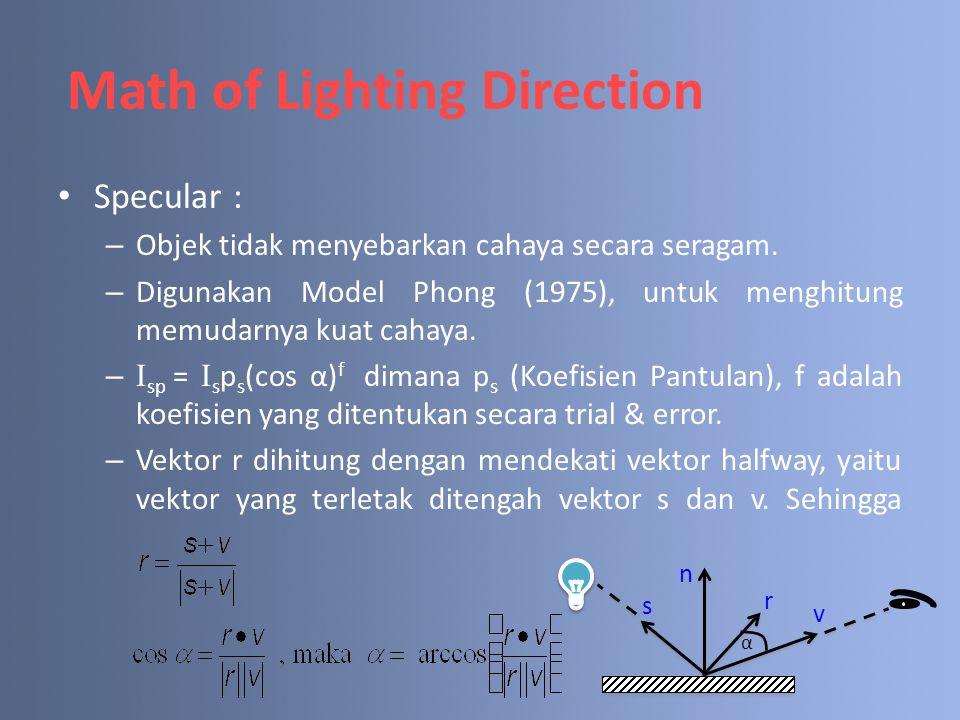 Math of Lighting Direction