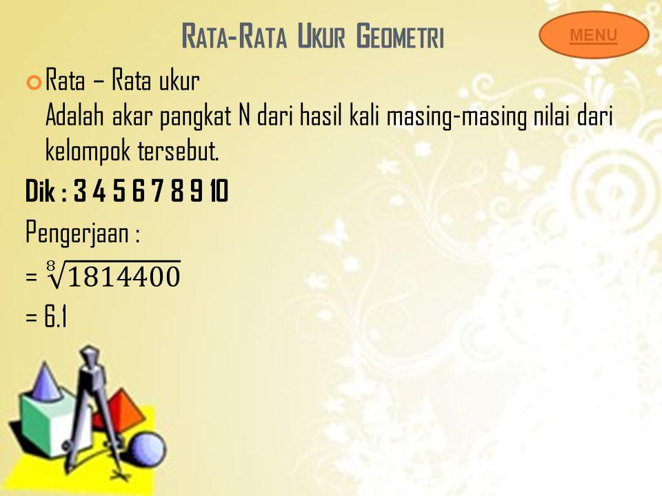 Rata-Rata Ukur Geometri