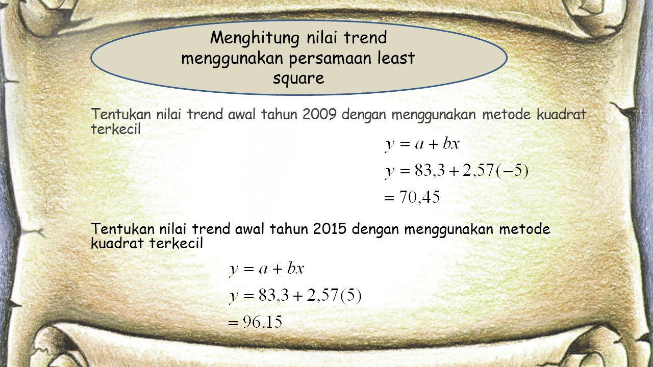 Menghitung nilai trend menggunakan persamaan least square