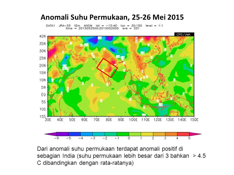 Anomali Suhu Permukaan, 25-26 Mei 2015