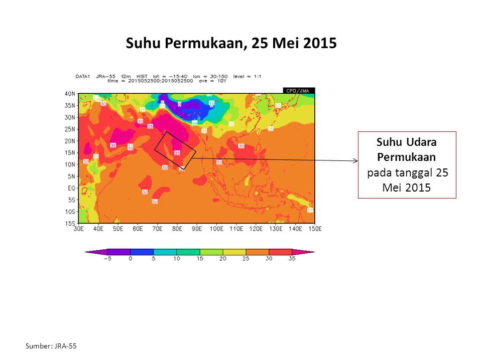 Suhu Permukaan, 25 Mei 2015 Suhu Udara Permukaan