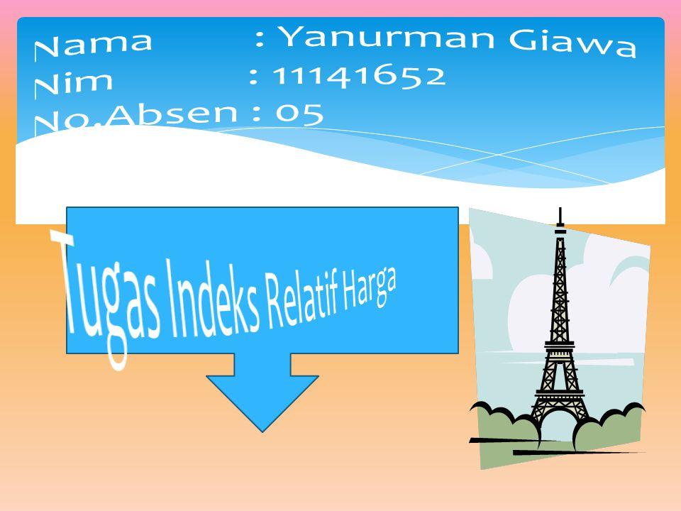 Nama : Yanurman Giawa Nim : 11141652 No.Absen : 05