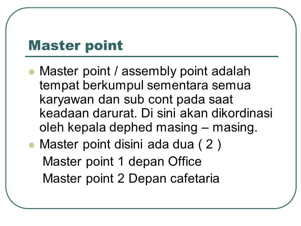 Master point
