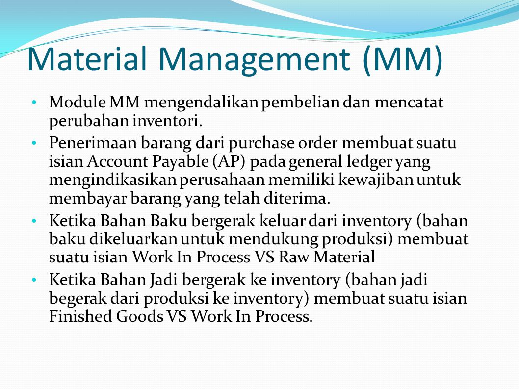 Material Management (MM)
