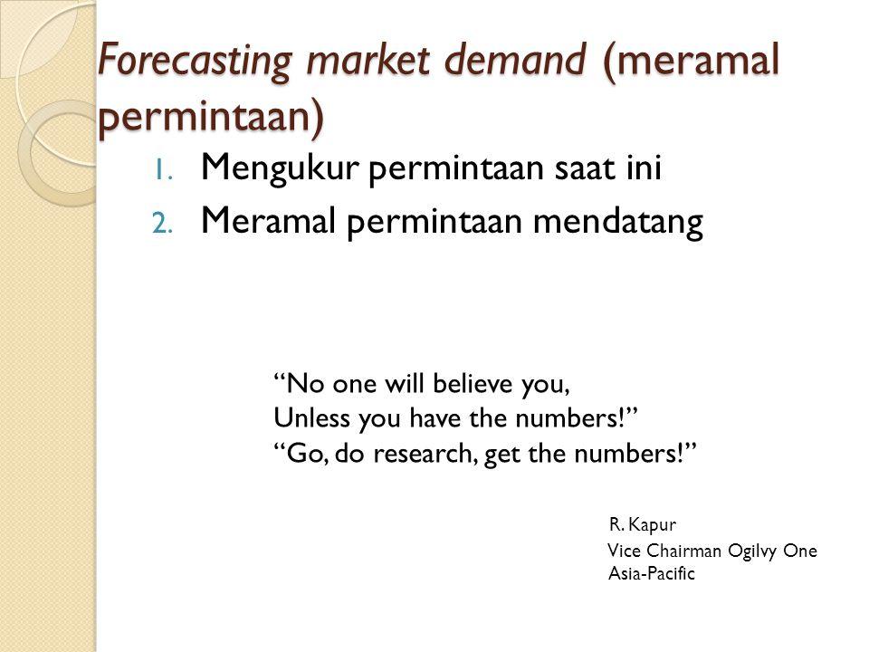 Forecasting market demand (meramal permintaan)
