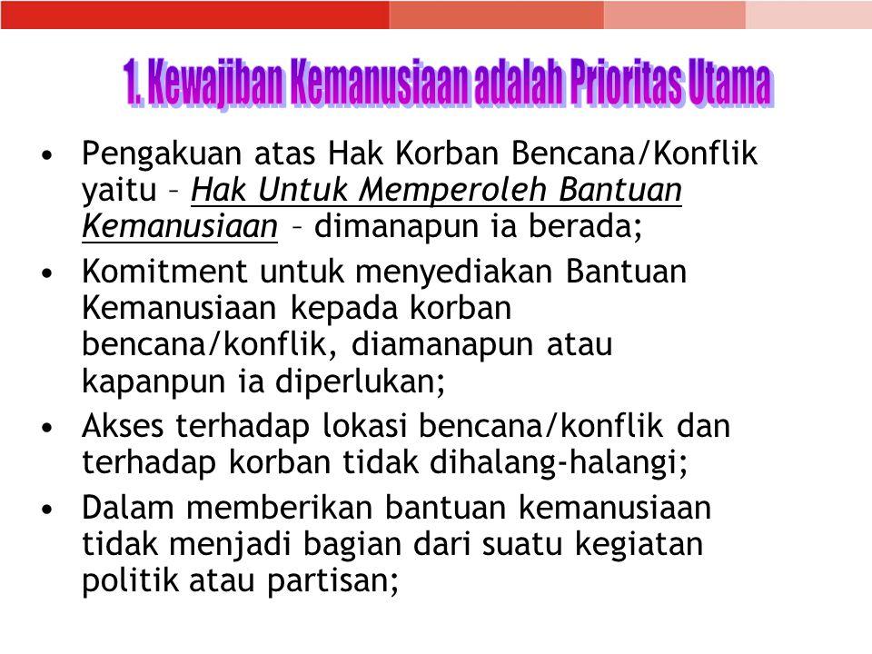1. Kewajiban Kemanusiaan adalah Prioritas Utama