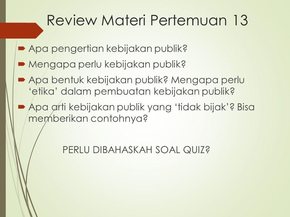 Review Materi Pertemuan 13