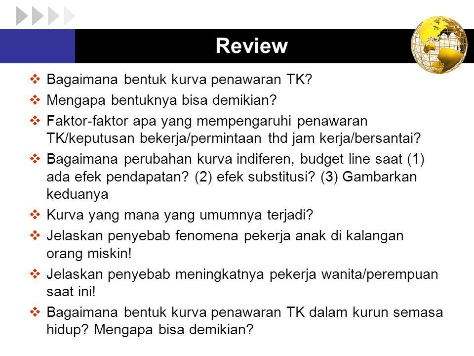 Review Bagaimana bentuk kurva penawaran TK