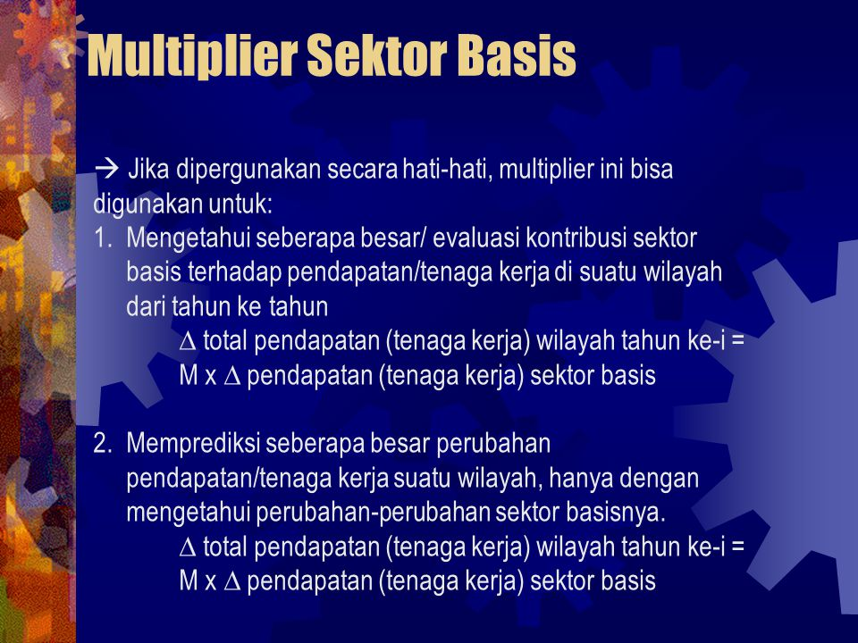 Multiplier Sektor Basis