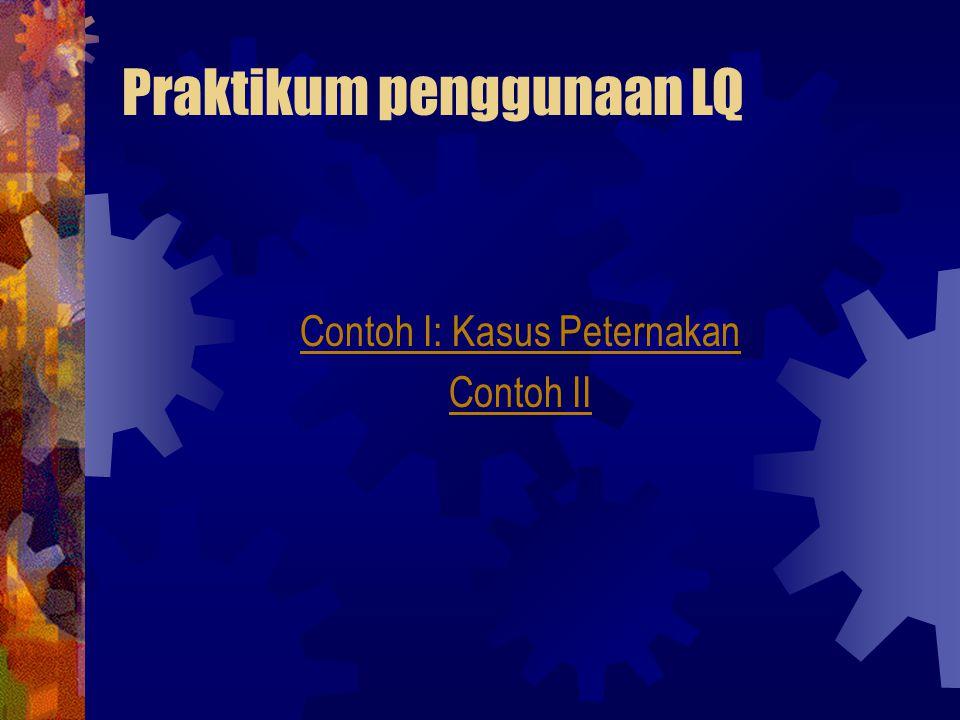 Praktikum penggunaan LQ