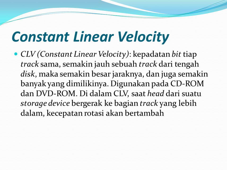 Constant Linear Velocity