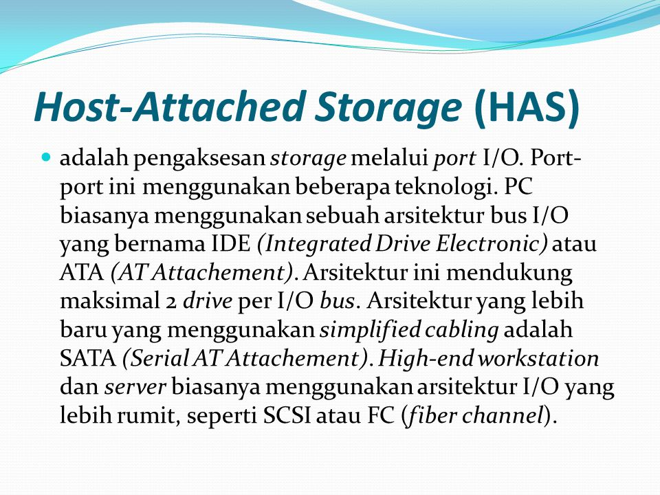 Host-Attached Storage (HAS)