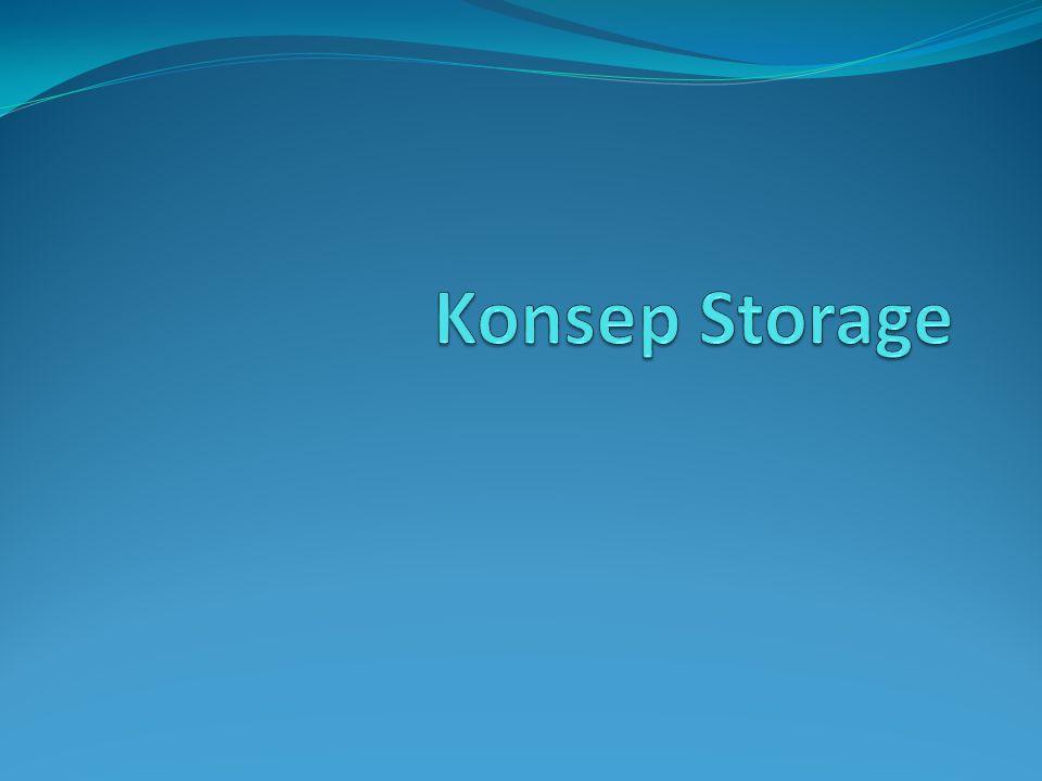 Konsep Storage