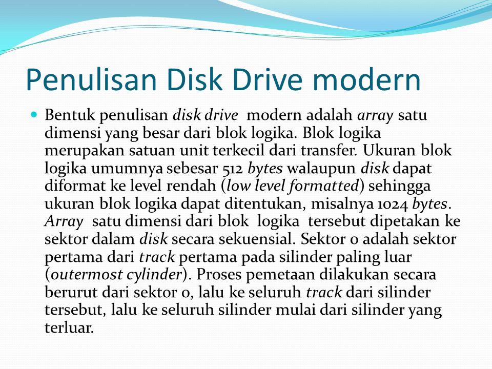 Penulisan Disk Drive modern