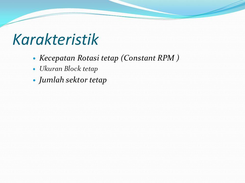 Karakteristik Kecepatan Rotasi tetap (Constant RPM )