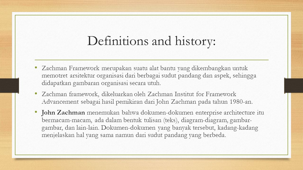 Definitions and history: