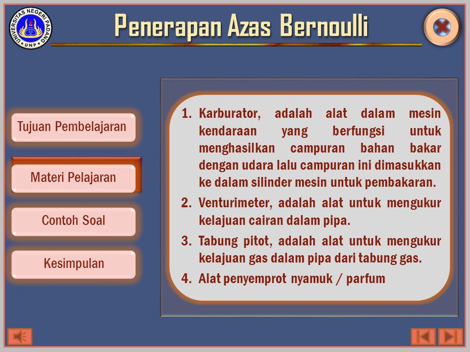 Penerapan Azas Bernoulli