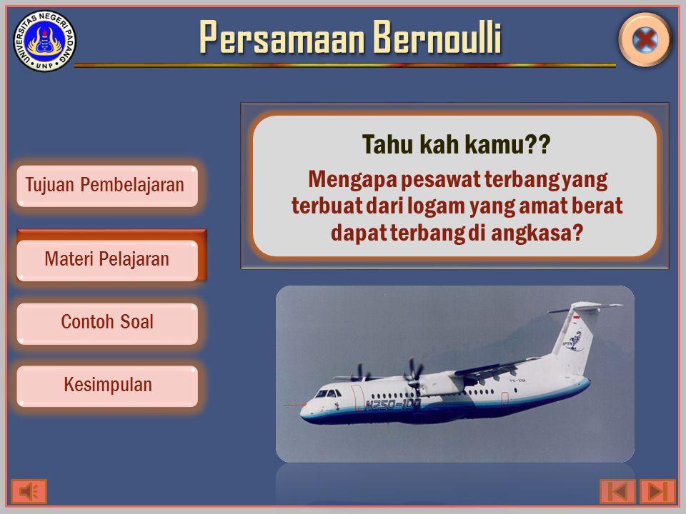 Persamaan Bernoulli Tahu kah kamu