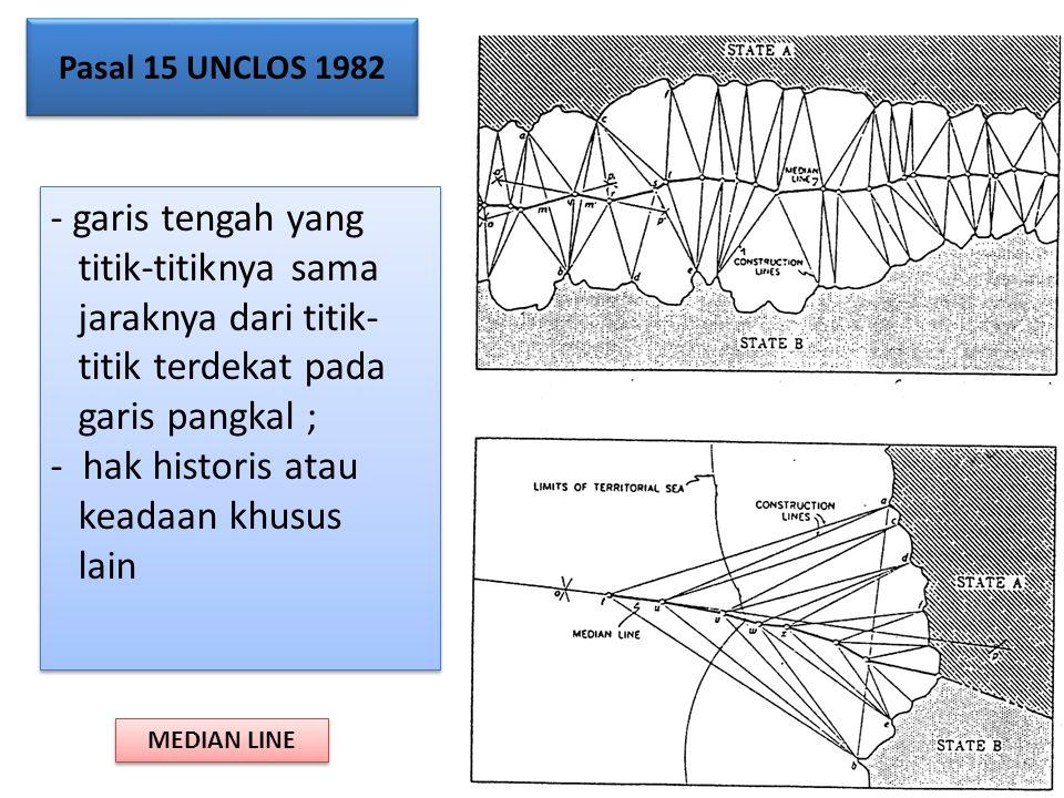 garis tengah yang titik-titiknya sama jaraknya dari titik-