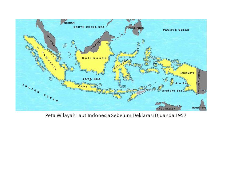 Peta Wilayah Laut Indonesia Sebelum Deklarasi Djuanda 1957