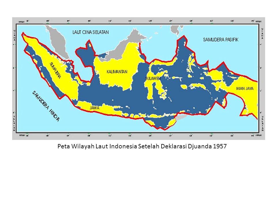 Peta Wilayah Laut Indonesia Setelah Deklarasi Djuanda 1957