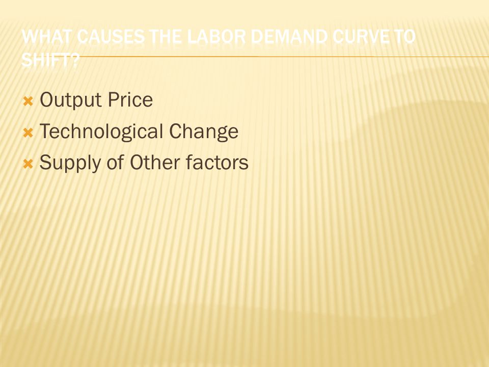 What Causes the Labor Demand Curve to Shift