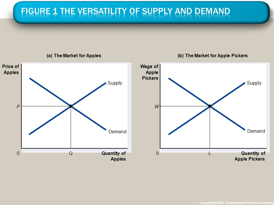 Figure 1 The Versatility of Supply and Demand