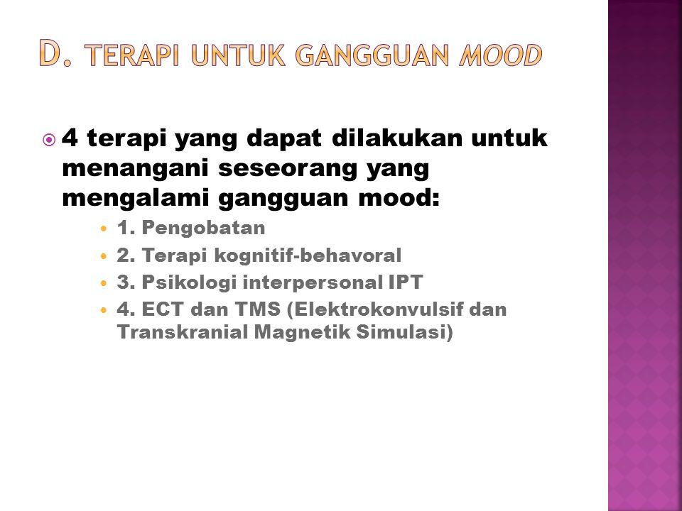 D. Terapi untuk Gangguan Mood