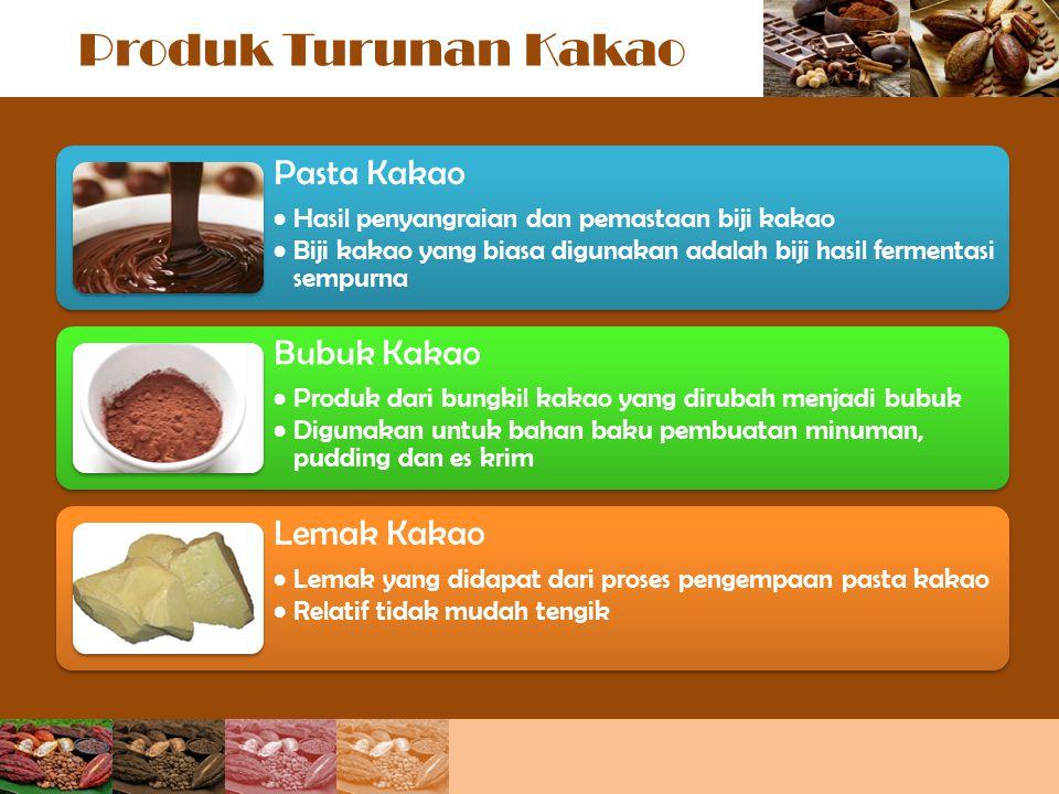 Produk Turunan Kakao Pasta Kakao Bubuk Kakao Lemak Kakao
